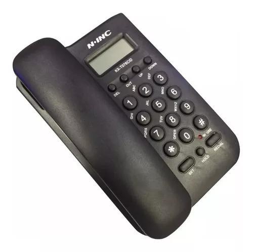 Telefone fixo com bina n-inc kx-t076cid