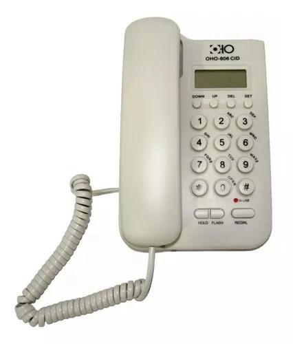 Telefone fixo oho com fio e identificador de chamadas 806c