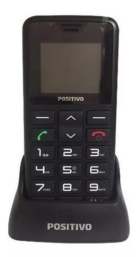 Telefone fixo positivo p35 - preto, s/ fio, 3g - de vitrine
