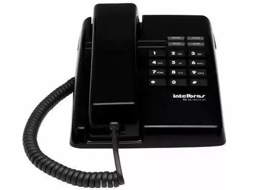 Telefone intelbras com fio tc50 pr