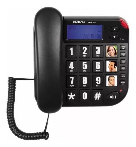 Telefone intelbras com fio tok fácil com teclas grandes e