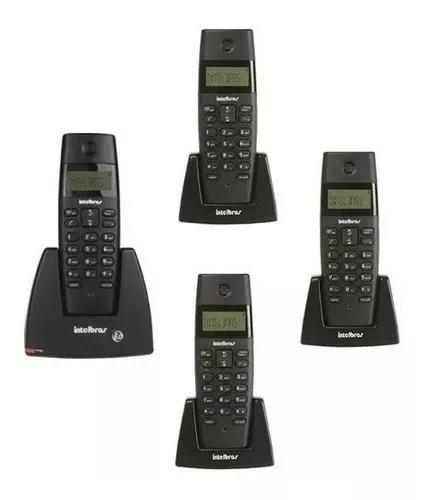 Telefone intelbras s/ fio digital ts 40 id +3 ramais ts 40 r