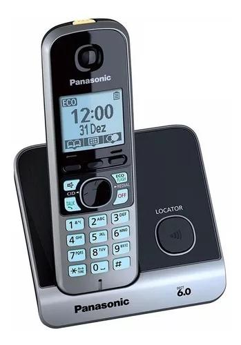 Telefone panasonic kx-tg6711 lb s/ fio bina viva voz 99%