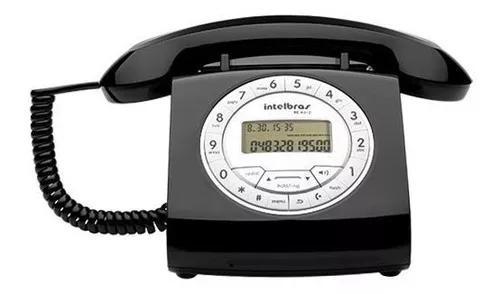 Telefone retro intelbras c/ fio tc 8312 s