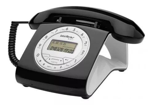 Telefone retro vintage intelbras c fio tc8312 viva voz cores