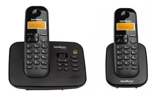 Telefone s/ fio c/ 1 ramal secretária id ts 3130 intelbras