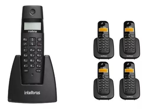 Telefone s/ fio digital ts 40 id + 4 ramal ts 3111 intelbras