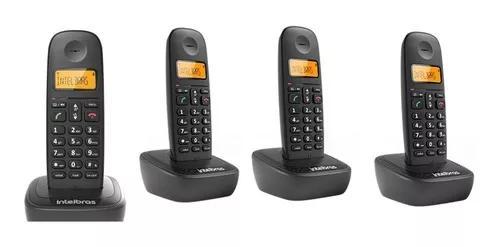 Telefone s/ fio intelbras ts40id dect6.0 + 3 ramais s