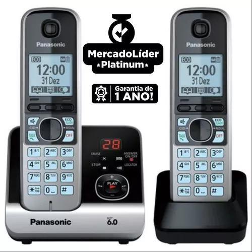 Telefone s/fio dect 6.0 c/id sec.ramal kxtg6722lb panasonic