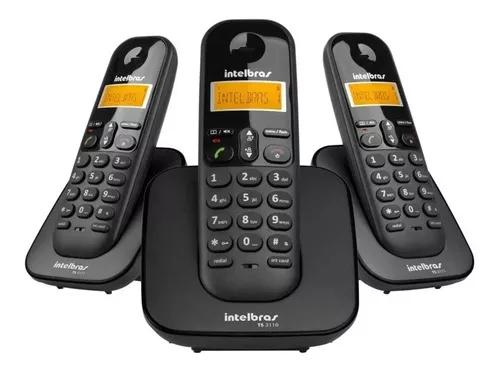 Telefone s/fio ts3113 base+ 2 ramais dect intelbras 6.0