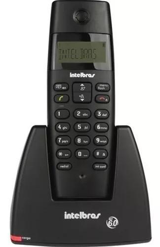 Telefone s/fio ts40id c/identificador preto intelbras