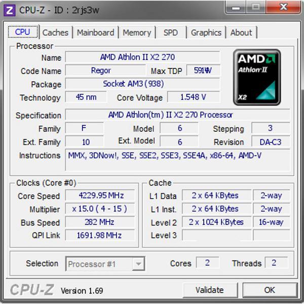 Amd athlon x2 270 am3+