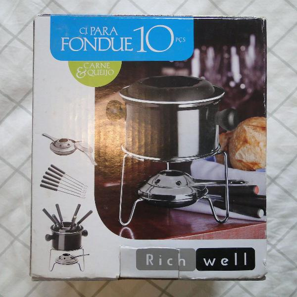 Aparelho para fondue 10pç novo