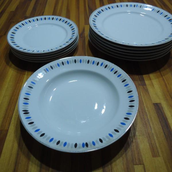 Baixela jogo de jantar porcelana schmidt