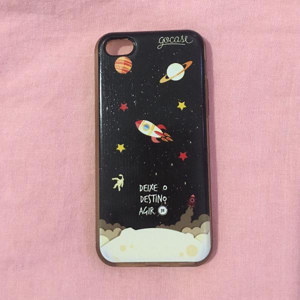 Capinha para celular universo go case iphone 5, 5s, 5c e se
