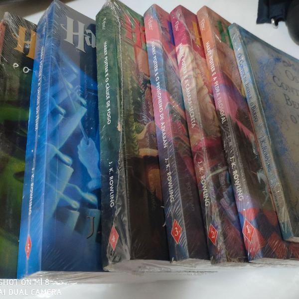 Coleção 8 livros do harry potter completa e lacrada