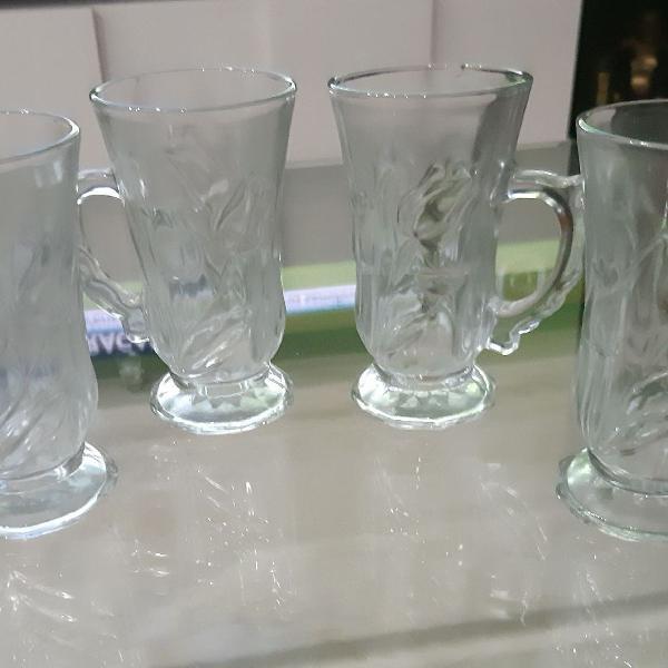 Conjunto de copos para cappuccino