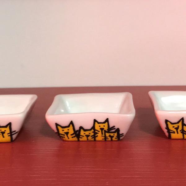 Conjunto de mini fingers food porcelana gatos