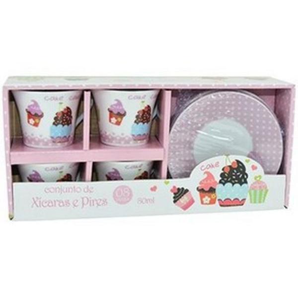 Conjunto de xícaras cupcakes