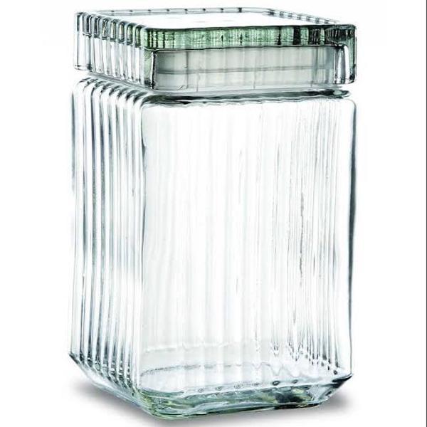 Conjunto pote hermético organizador vidro