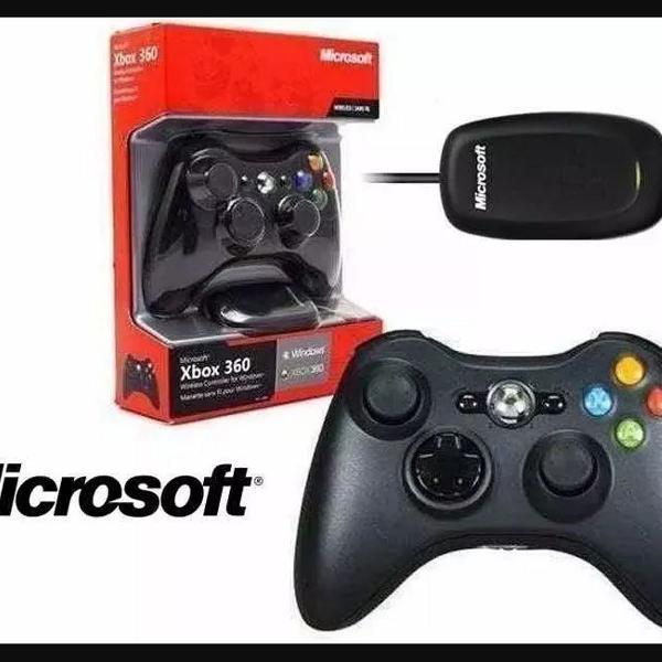 Controle xbox 360 original com receiver original microsoft
