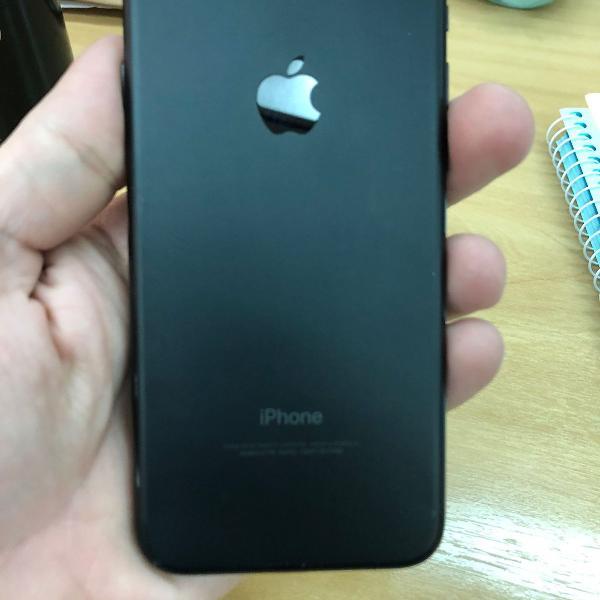 Iphone 7 256gb cinza espacial (preto fosco) semi novo
