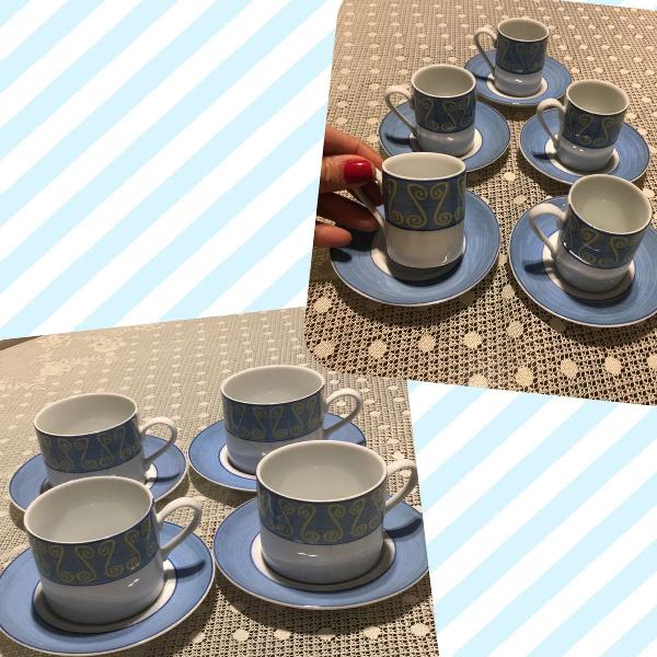 Jogo de 8 xícaras porcelana schmidt