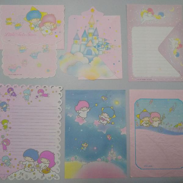 Kit 6 papeis de carta sanrio little twin stars