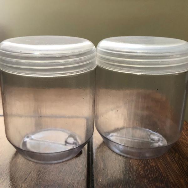 Kit com 10 vasilhas de plástico