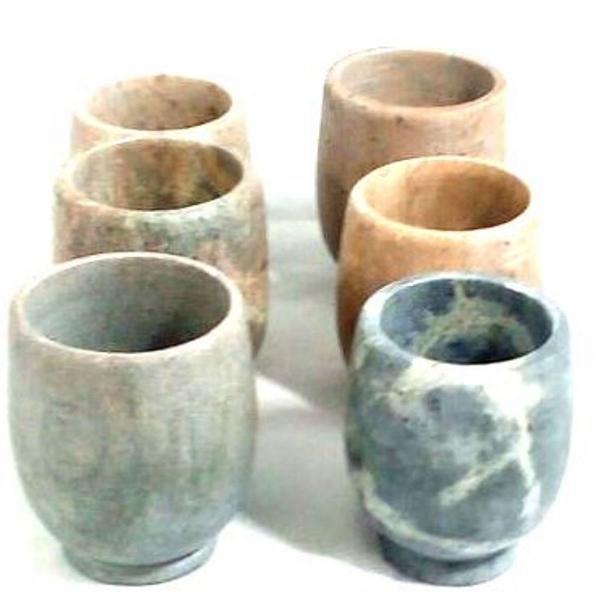 Kit conjunto copinho de pinga de pedra sabão artesanal