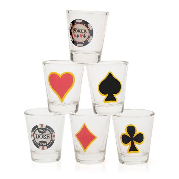 Kit copos de shot poker shot