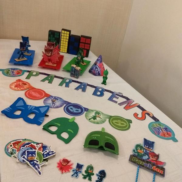 Kit decoração pj masks