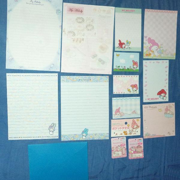 Lote papel de carta my melody