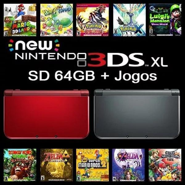 New nintendo 3ds xl + 15 jogos
