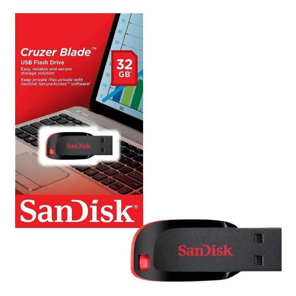 Pen drive 32gb sandisk original lacrado envio rapido