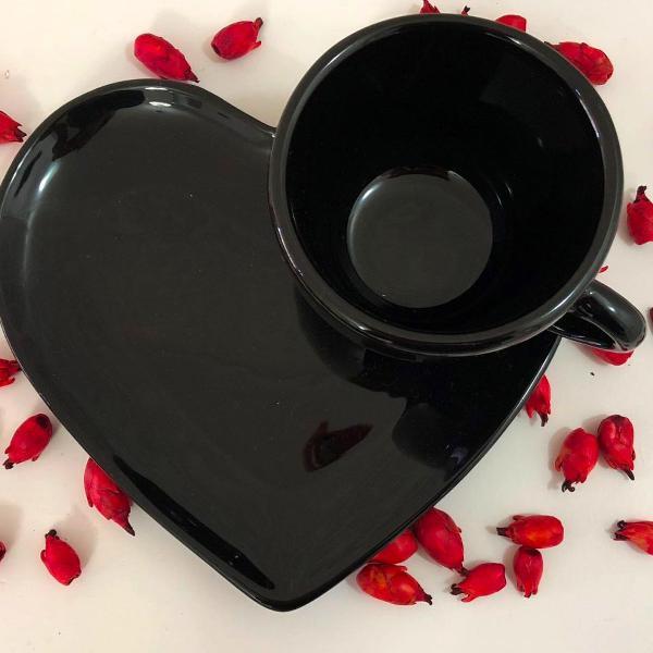 Xícara chá coração - liso