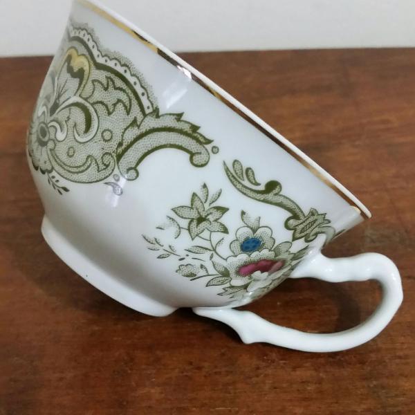Xícara chá porcelana steatita + pires avulso