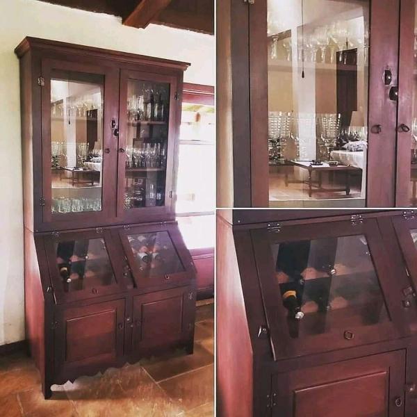 Armário 6 portas adega madeira demolição 120x58x220