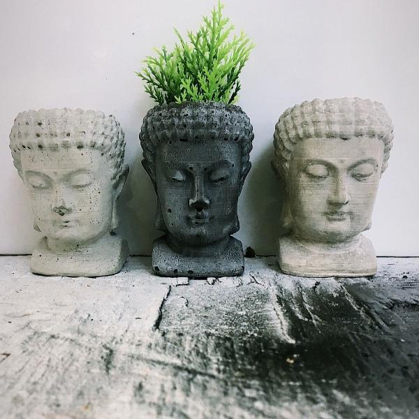 Buda cabeça porta objeto