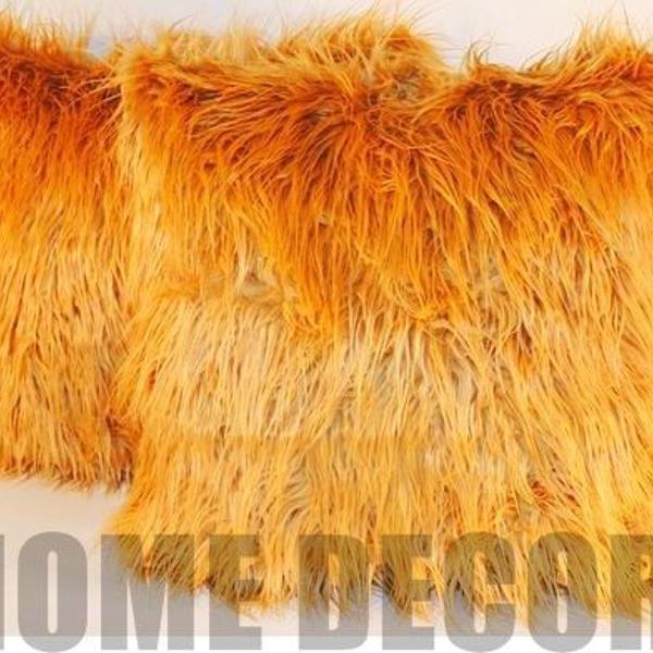 Capa de almofada pelúcia longa + suede