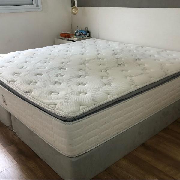 colchão e cama box king size