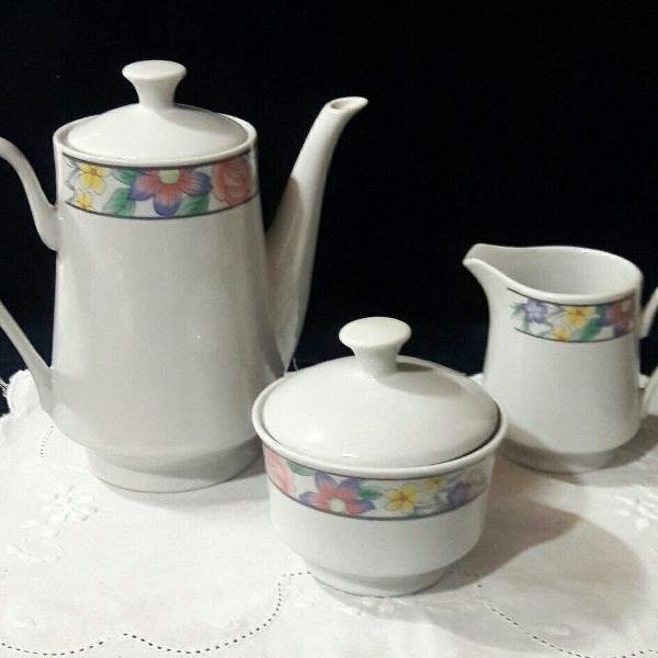 Conjunto para café 03 peças porcelana