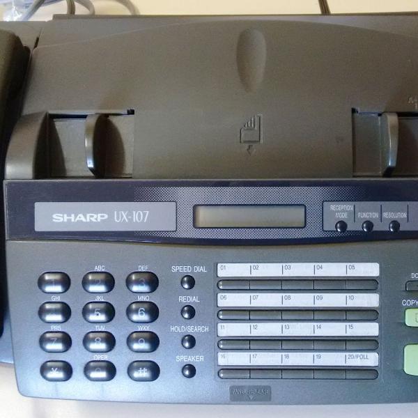 Fax sharp ux-107 - decoração ou peças