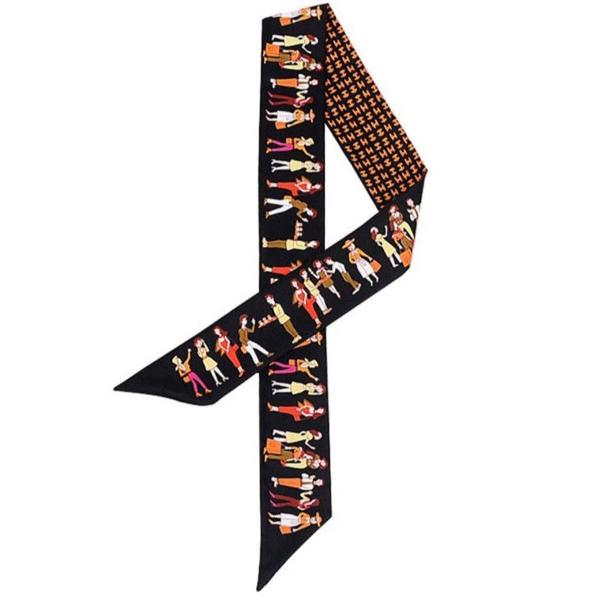 Lenço de seda para bolsa hermes inspiração