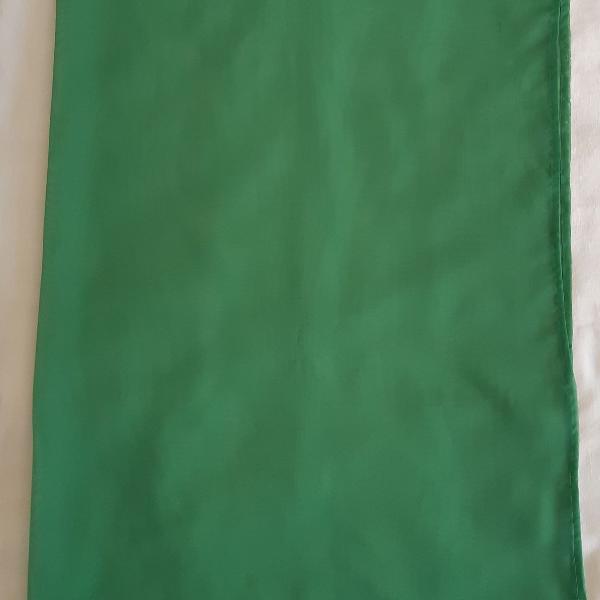 Lote 4 - cortinas decorativas - voal - verde bandeira