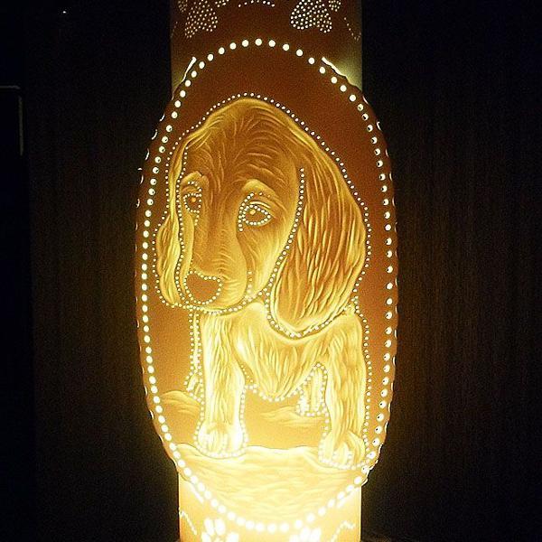 Luminaria em pvc cachorrinho, dog, pet, de mesa, sala,