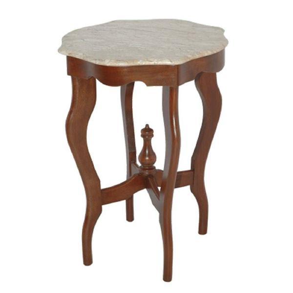 Mesa luis vx lateral madeira e mármore