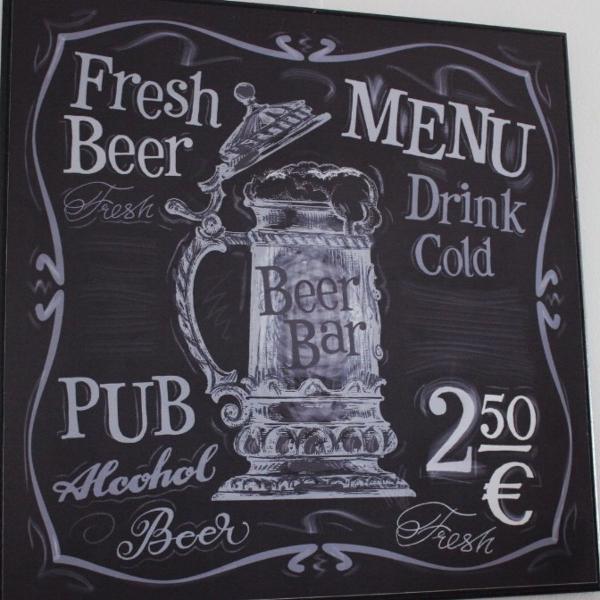 Placa decorativa - tema bar
