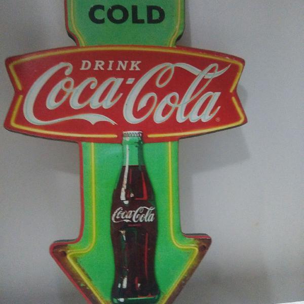 Placa old school coca-cola