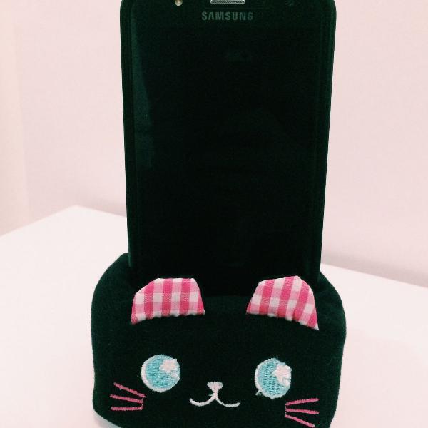 Porta smartphone de gatinho